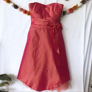 NWT {Kay Unger} Pink Strapless Cocktail Dress